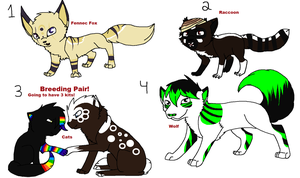 Mixed Adoptables 1 //5 points each Kits 3 Points// by Rose-Sherlock