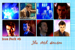 10th Doctor Icon Pack by feel-inspired