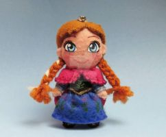 Anna - Frozen keychain by tstelles