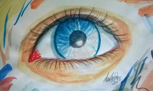 Watercolor Eye by PatyKasagai