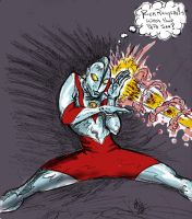 UltraMan Sketch: who's your PapaSan? by ADE-doodles