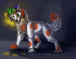 magic creatures-jester wolf by Silverbloodwolf98