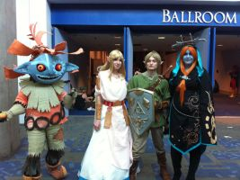 Zelda Cast at Fanime Con by LadyAkeldama