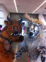 Ki and Vi'Taly at Anthrocon by Forgess