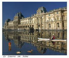 louvre on Seine by bracketting94