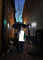 Chen In Raining Day At Night by KpopGurl
