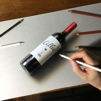 3D drawing of a bottle of Callia by marcellobarenghi