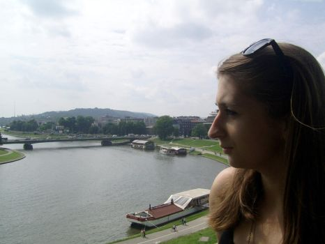 I and Vistula river in Cracow. 2012 :D by alex-tema