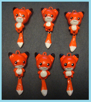 Charms - Foxes by MandyPandaa