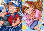 Mystery Twins by JammyScribbler