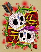 Sugar skulls by sickfuck76
