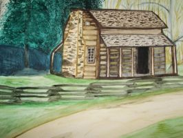 Cabin Painting by NinjaZombie5692