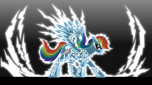 Rainbow Dash, Lightning Rider (alternate version) by icewindow