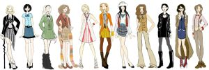 Gallifreyian Fashion Sketches by ch4rms