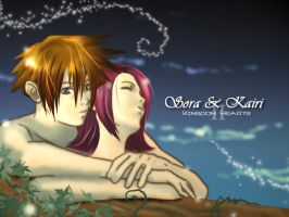Kingdom Hearts 2- Sora X Kairi by midorikou