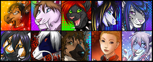 Icon Commission Batch 3 by Majime