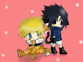 Sasuke and Naruto 2 by Fantart1