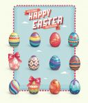 Free Vector Easter Eggs Set by Pixeden