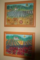 My pastel paintings with landscapes by ingeline-art