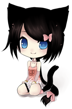 Anime-chibi-catsviewing-unknownfallenangels-pr by LazyAnime