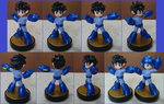 Helmetless Mega Man custom amiibo by Gregarlink10