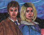 The Doctor and Rose - The Galaxy Skies by Laurenthebumblebee