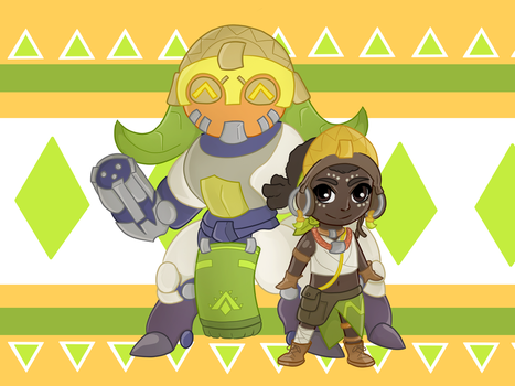 Orisa and Efi by fataltuna