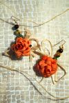 Rose earrings SOLD by emilieleger