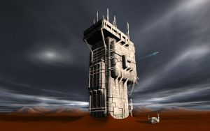 Martian Outpost by GrungeTV