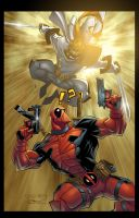 Shatterstar VS Deadpool by Rusty001