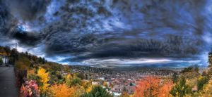 Stuttgart In Autumn HDR Pano 2 by Creative--Dragon