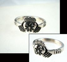 Steampunk Gear Claddagh Ring by Joshuadsanchez