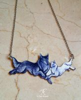 Wolfbond necklace by TrollGirl