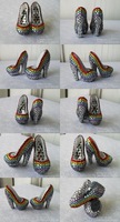 Monster High Shoes - Super Prismatic by TifaTofu