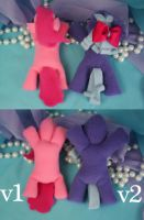 Pony Plush body new and old by bluepaws21