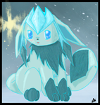 Like a glint of light -Glaceon by miflore