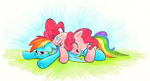 Snuggles vs Coolness by kittyhawk-contrail