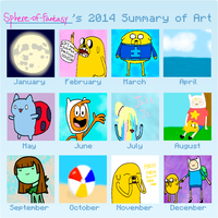 2014 Summary of Art by Sphere-of-Fantasy