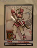 Botcon Arcee Autograph Card by beamer