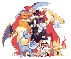 Pokemon Team Commission 2 by H0lyhandgrenade