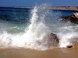 Waves Crashing on La Jolla Cove 1/8 by NodokaVisualArts