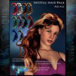Wistful Painted Instant Hair PSD add on hair stock by MakeMeMagical