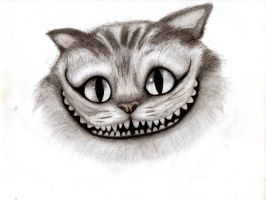 gato sonriente by cigaroSG