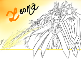 Leona, the Radiant Dawn by DigitalBaren
