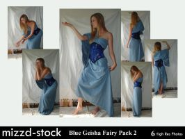 Blue Geisha Fairy Pack 2 by mizzd-stock