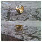 Two Layer Brass Ring by JKL-Designs