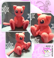 Mew Plushie :Sold: by Ami-Plushies