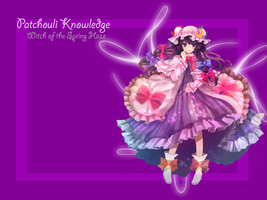 Patchouli Knowledge Wallpaper by AureliaCelestis