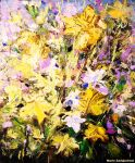 Abstract Floral - 50cm x 60cm by zampedroni