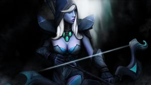 Drow Ranger - Dota 2 by Silver-Fate